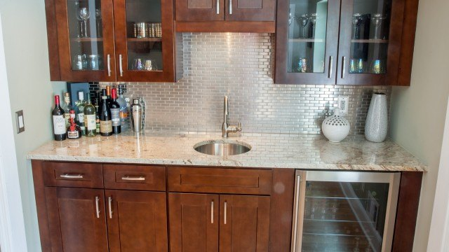 Colonial Gold Granite Bar Countertop