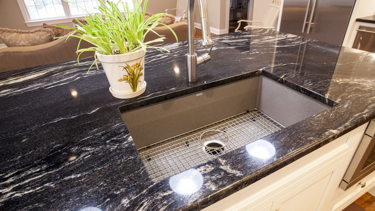 granite quartz projects countertops countertop portland kitchen galaxy black at enthralling