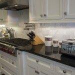 Cosmic Black & Black Galaxy Granite Kitchen Countertops   Marble.com