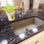 Cosmic Black & Black Galaxy Granite Kitchen Countertops | Marble.com