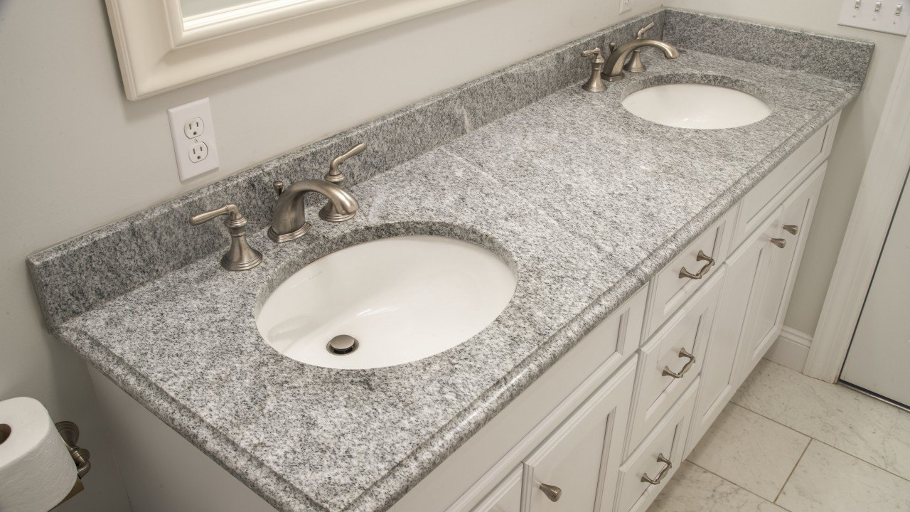 Bianco Diamante Granite Bathroom Vanity Top