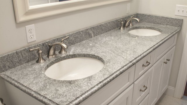 Light Gray Granite Vanity Top : Bathroom Galleries and Countertop Design Ideas.