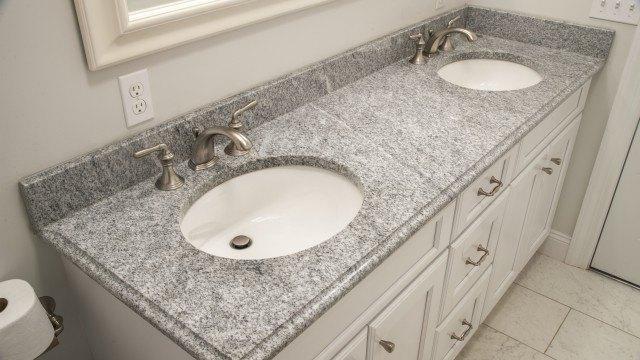 Bianco Diamante Granite Bathroom Vanity Top