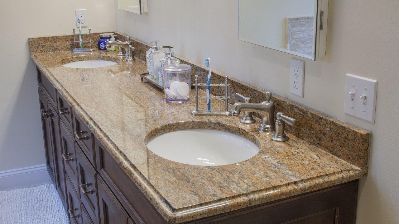 Stone Vanity Tops For Bathrooms : Juparana persia granite bathroom vanity top