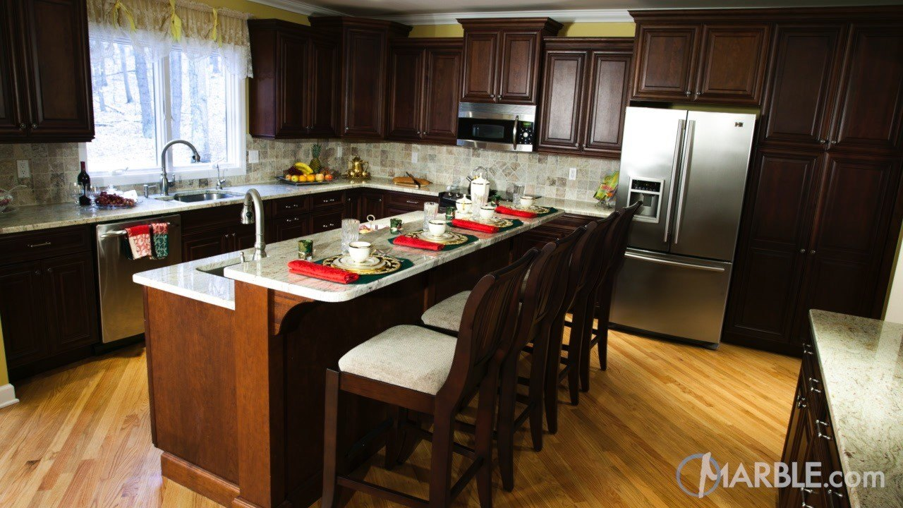 Ambrosia White Granite Kitchen Countertop