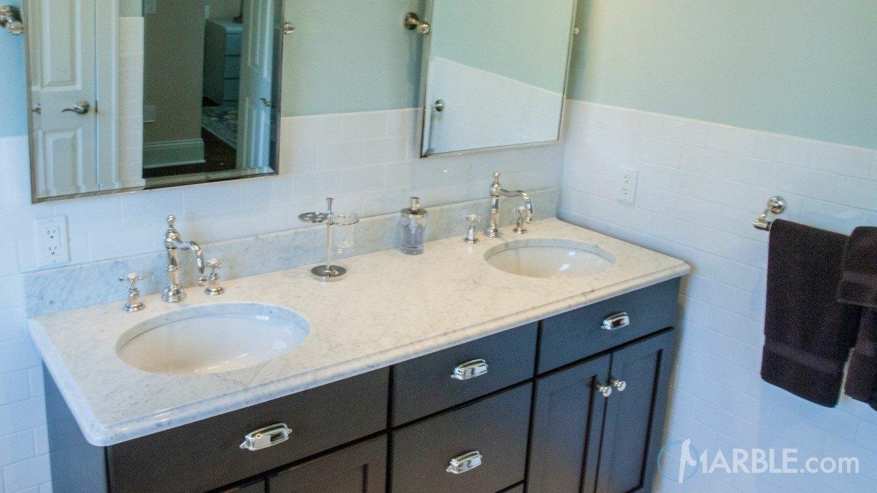 Statuario Marble Bathroom Vanity