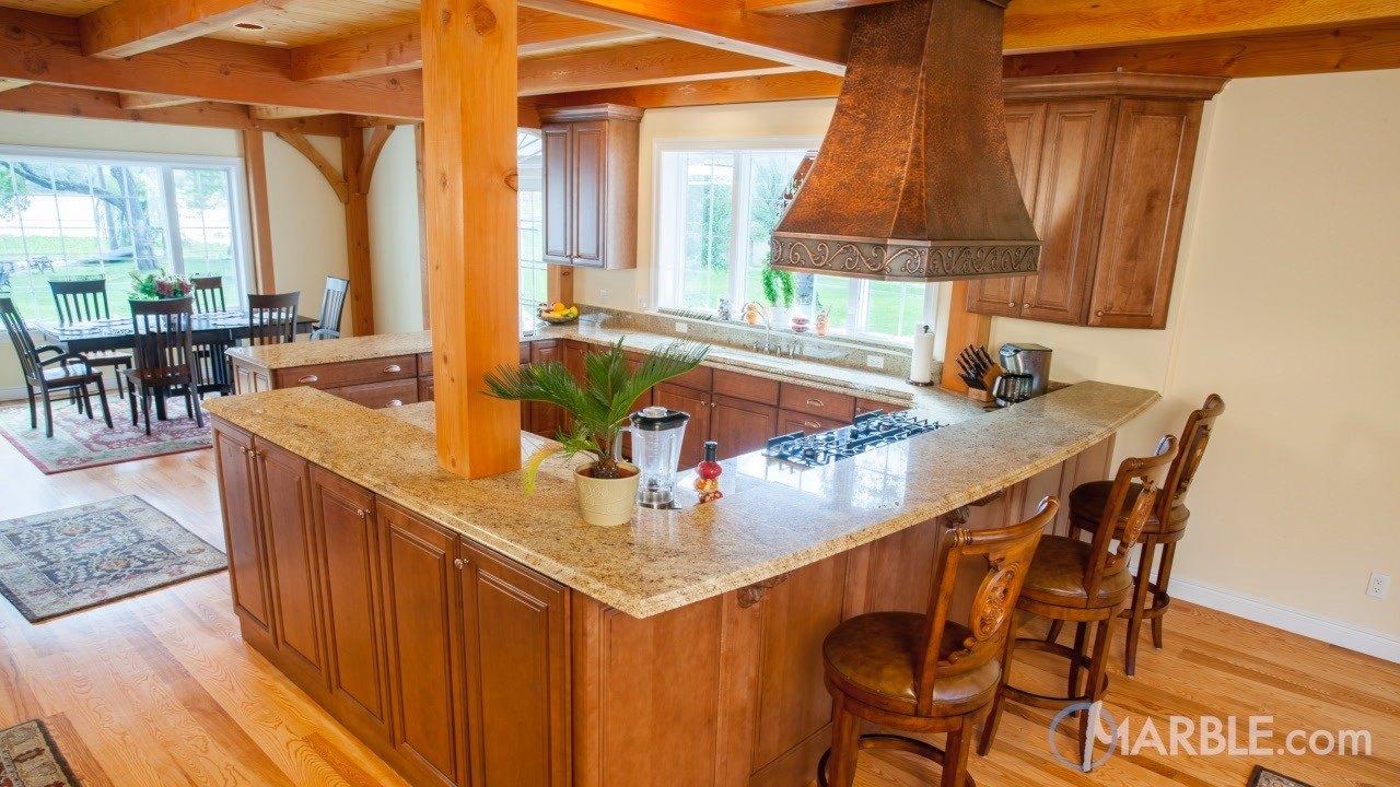 Amba Gold Granite Kitchen Countertops | Marble.com