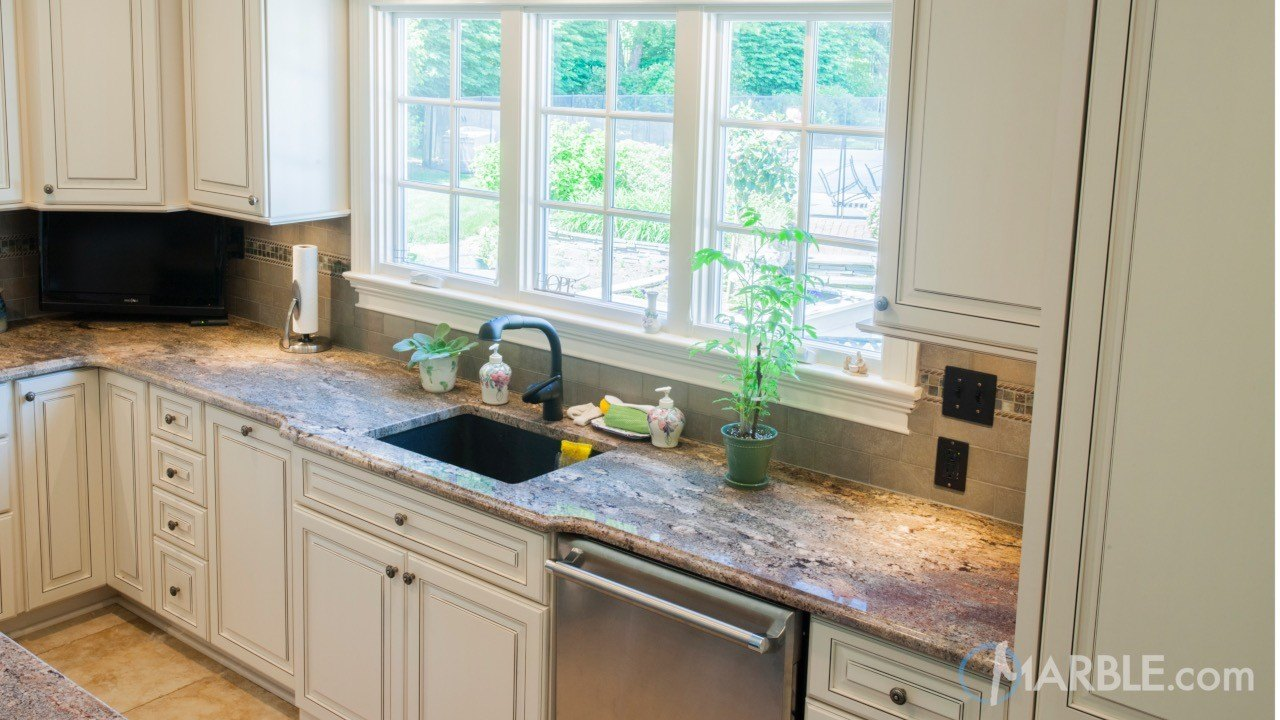 Baltic Blue Granite Kitchen | Marble.com