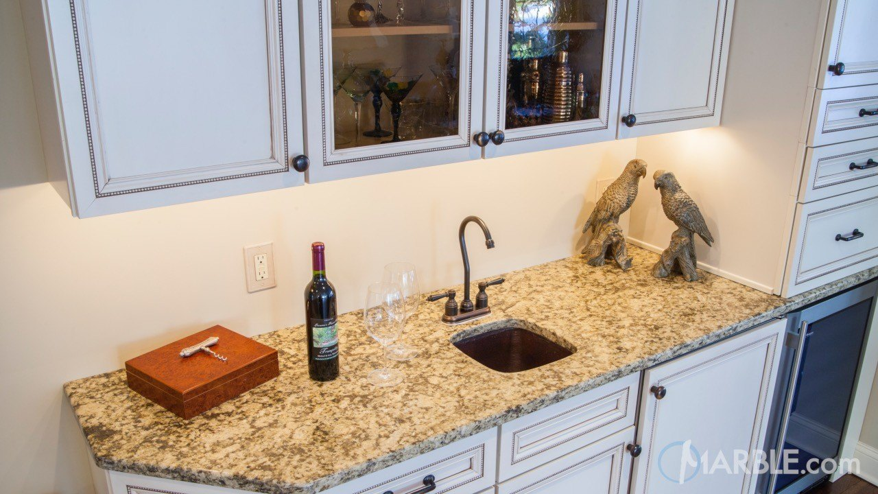 Santa Cecilia Real Granite Kitchen | Marble.com