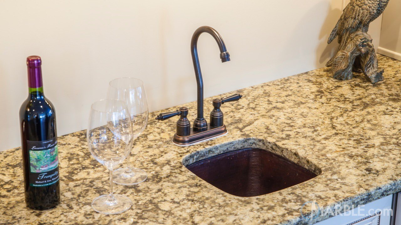 Santa Cecilia Real Kitchen Granite Countertop | Marble.com