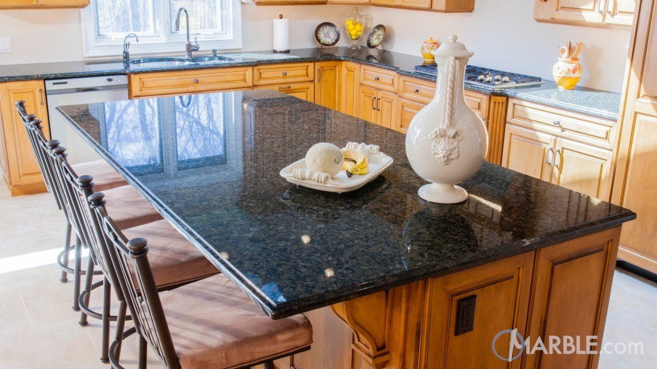 Original Peacock Green Granite Kitchen Countertops