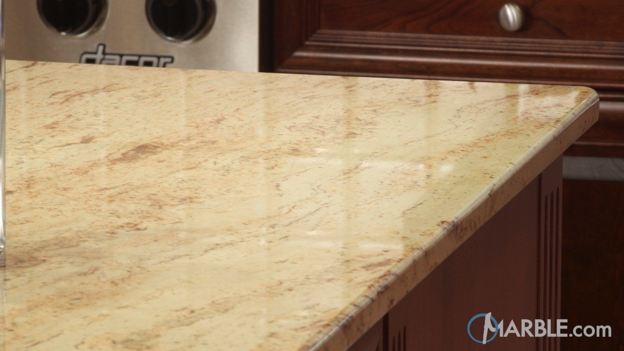 Ivory Brown Kitchen Granite Counters | Marble.com