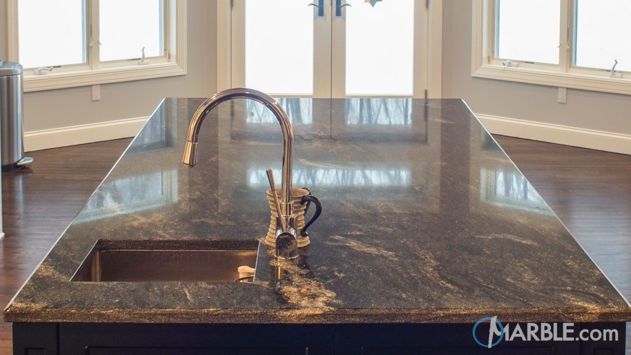 Orion Granite & Absolute Black Granite Kitchen Countertops | Marble.com