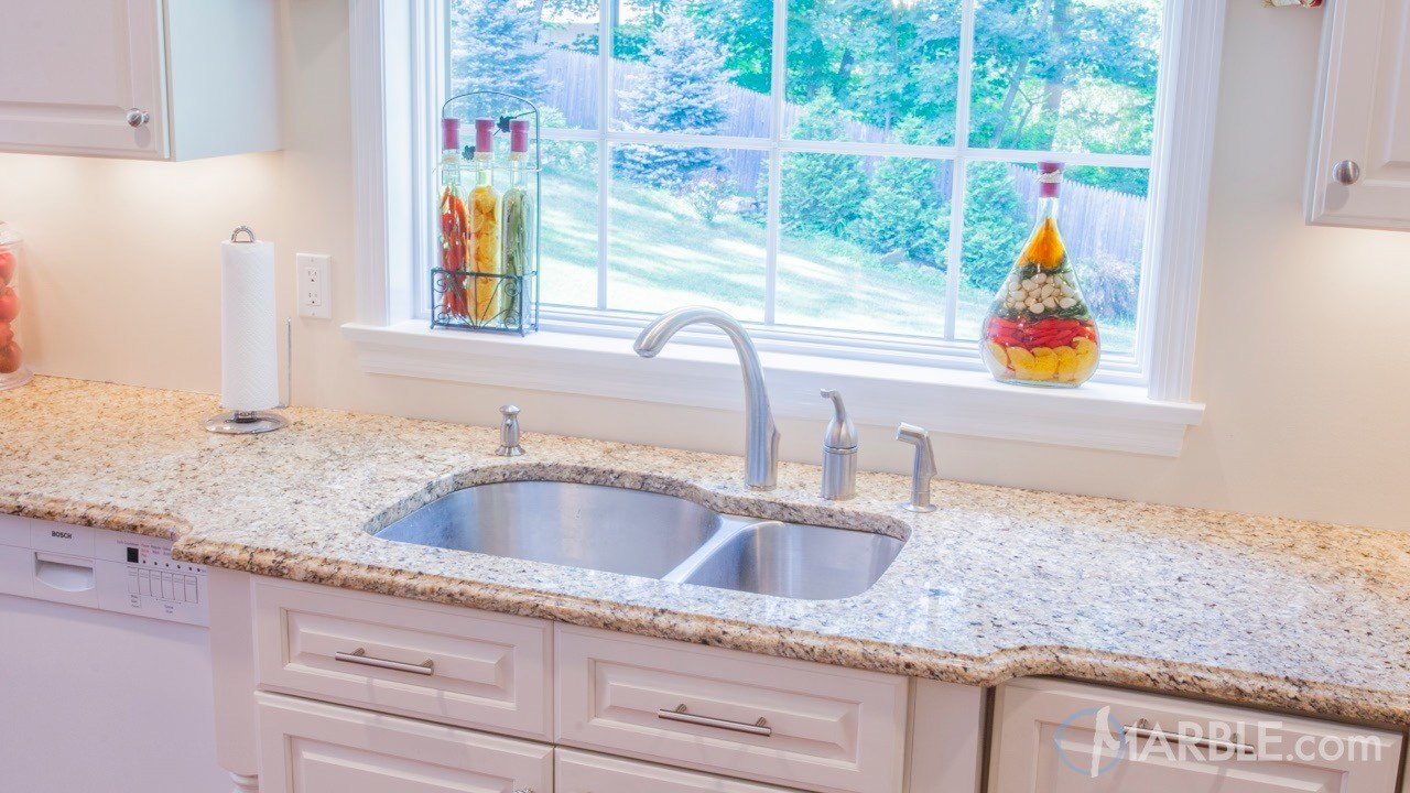 Brasil Gold Granite Kitchen | Marble.com