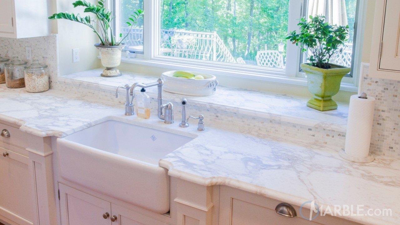 Calacatta Oro Marble Kitchen Countertops