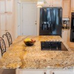 Atlantis Granite Kitchen Countertops with a Large Island  | Marble.com