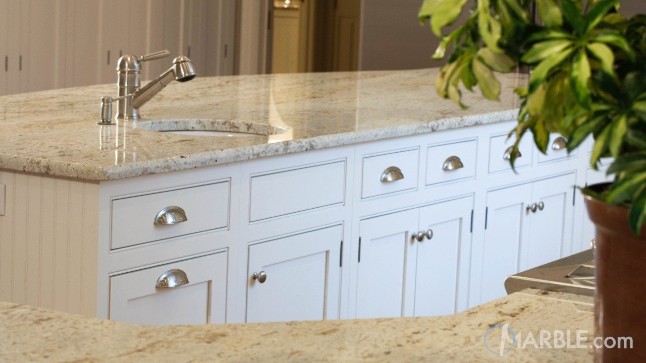 Colonial Gold Granite Kitchen Countertops
