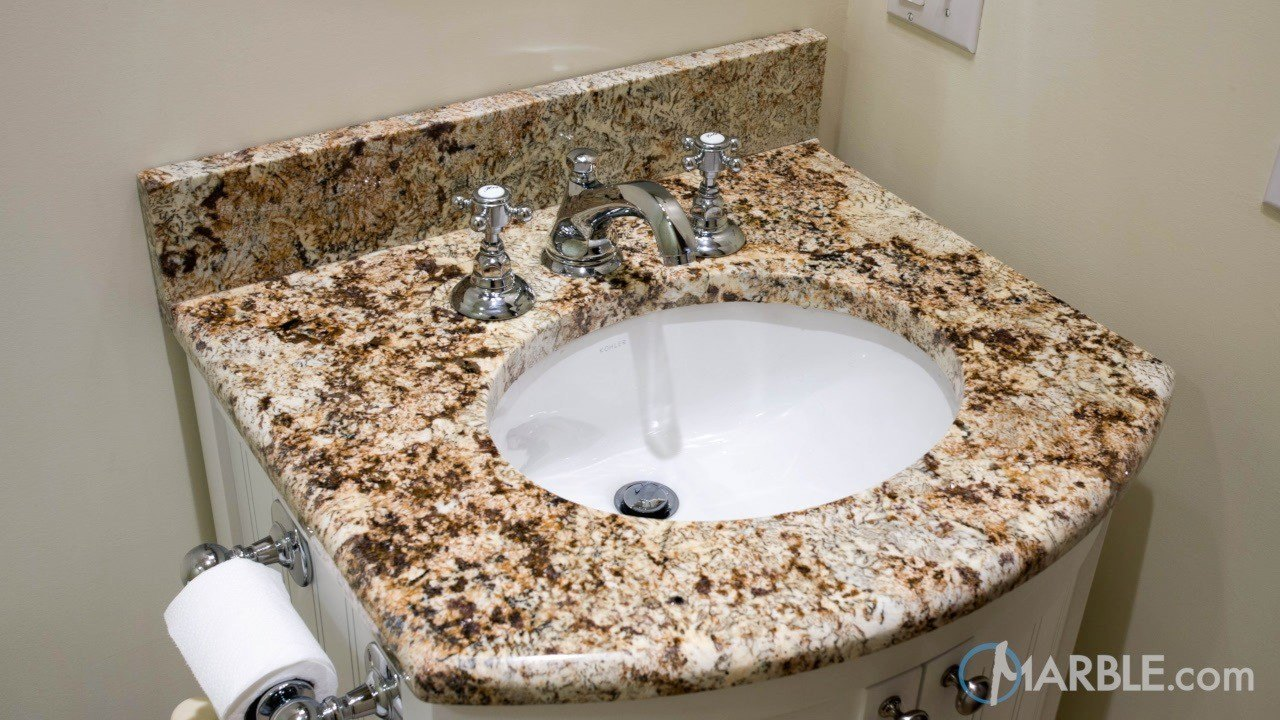 Giallo Napole Granite Bathroom | Marble.com