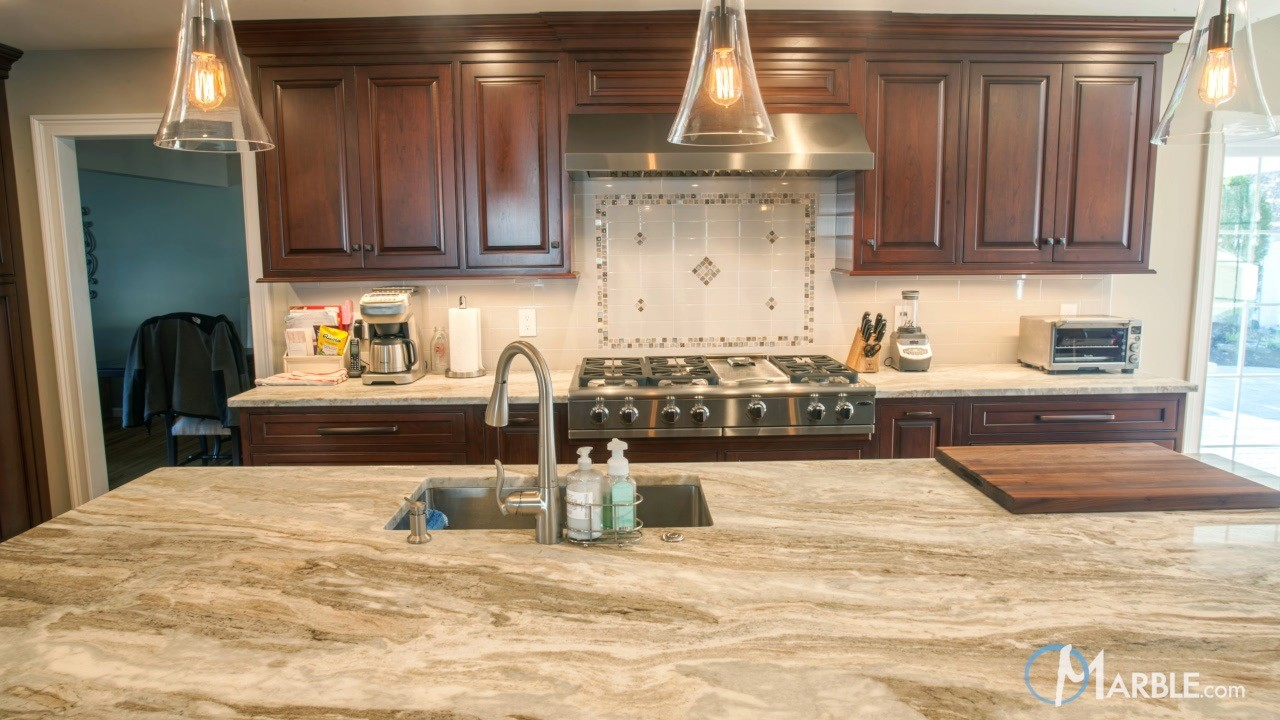 Brown Soapstone Kitchen Countertops