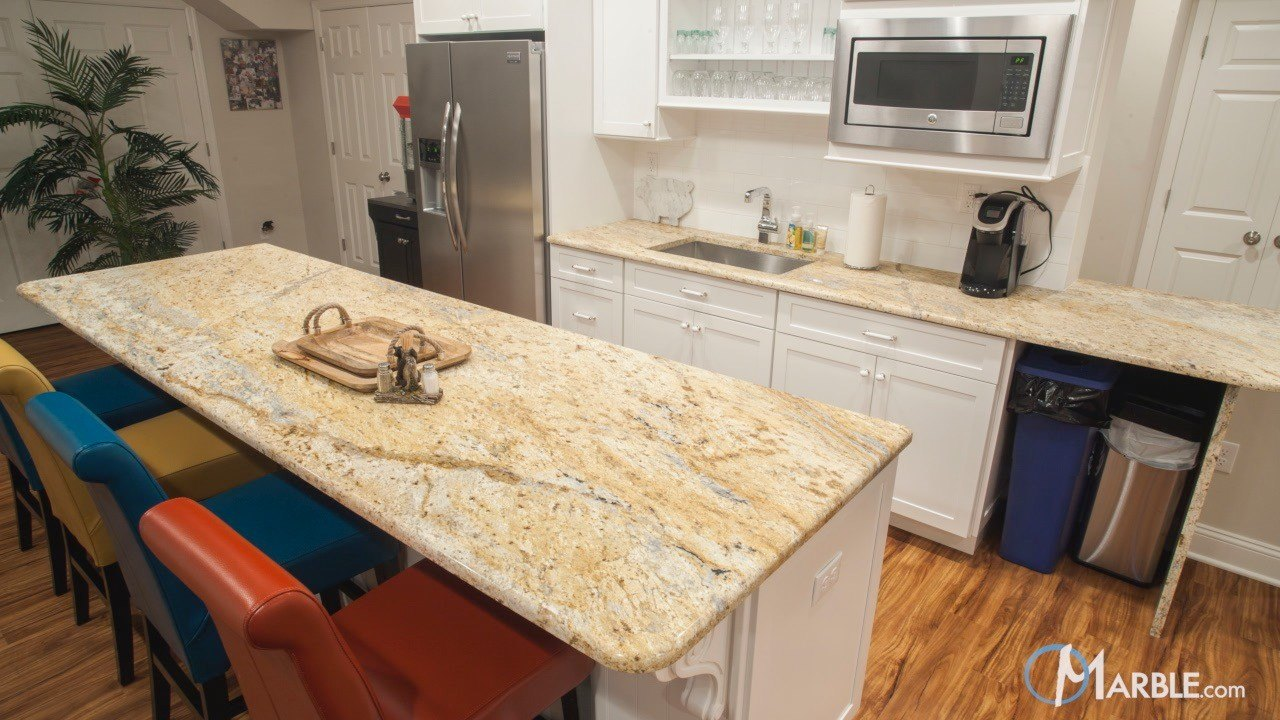 Colonial Dream Granite Kitchen Countertops  | Marble.com