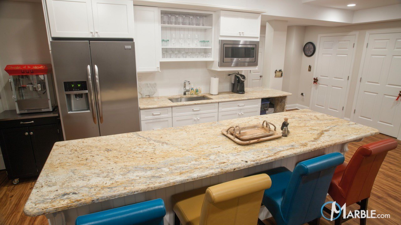New Colonial Dream Granite Kitchen Countertops