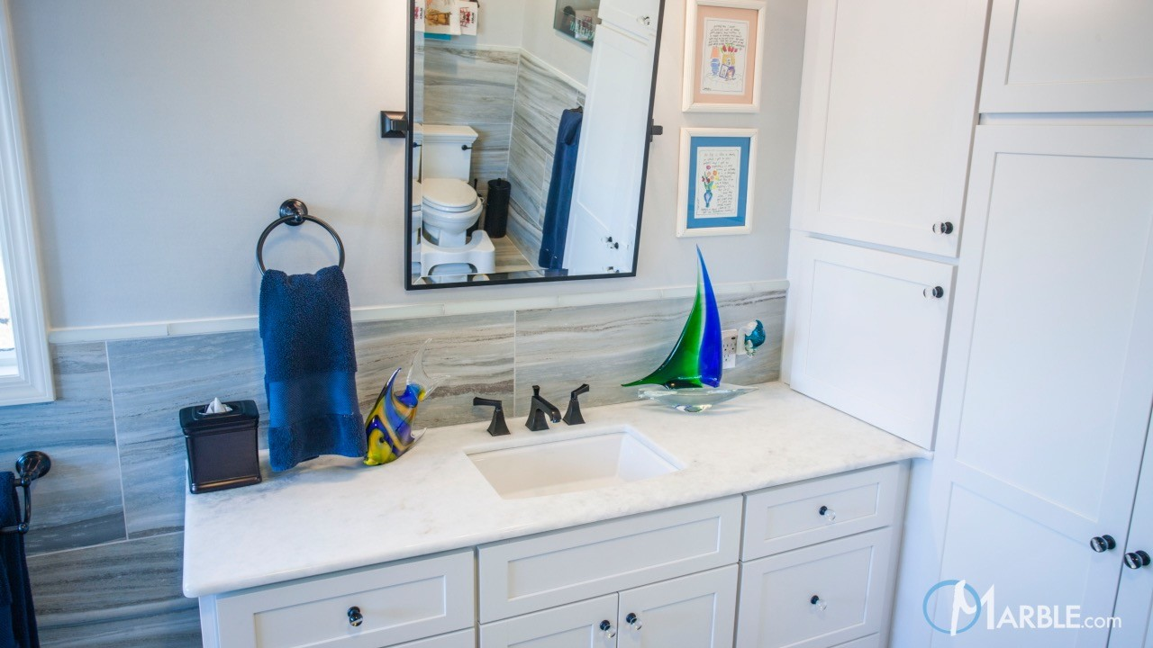 Sparkling Blue Marble Bathroom Vanity