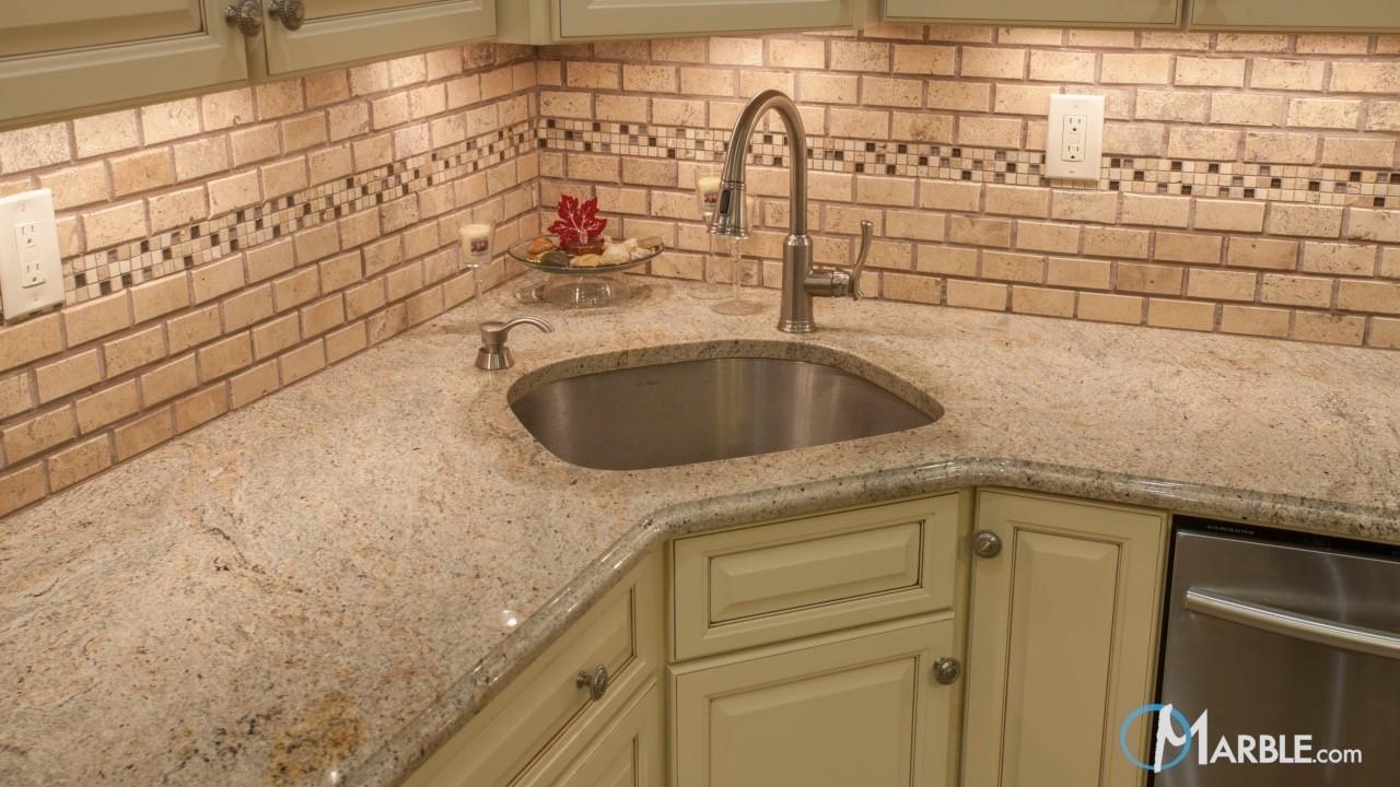 Ivory Fantasy Granite Kitchen | Marble.com