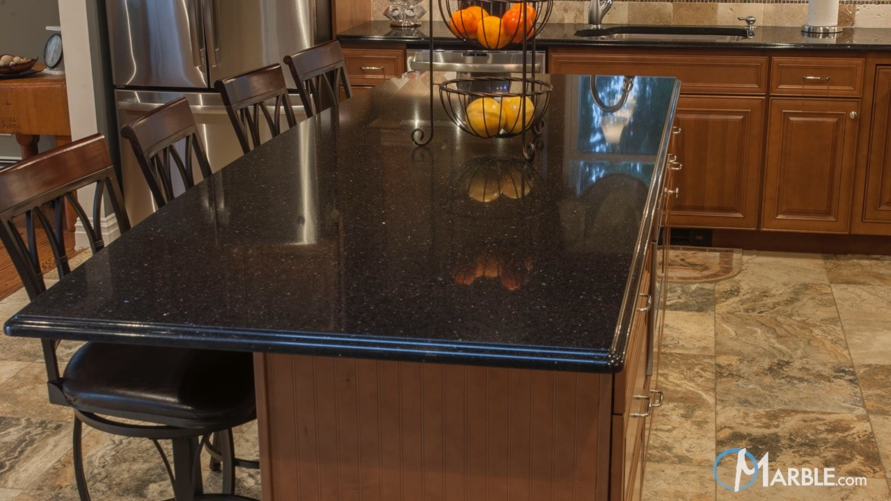 African Galaxy Granite Kitchen | Marble.com