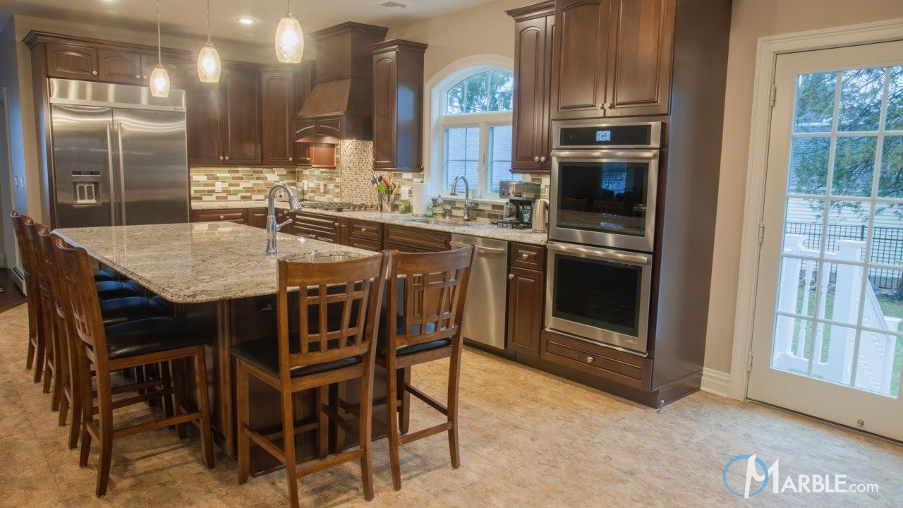 Bianco Antico Granite Countertops in a New Kitchen | Marble.com