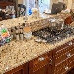 Santa Cecilia Granite Kitchen Countertops in a Large Kitchen | Marble.com