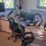 Sequoia Brown Granite Office Desk | Marble.com