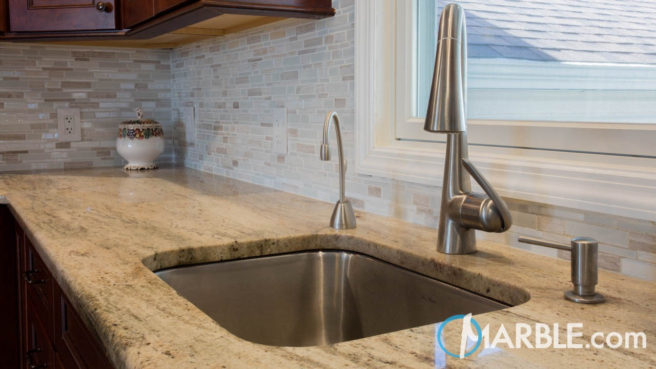 Colonial Cream Granite Kitchen | Marble.com
