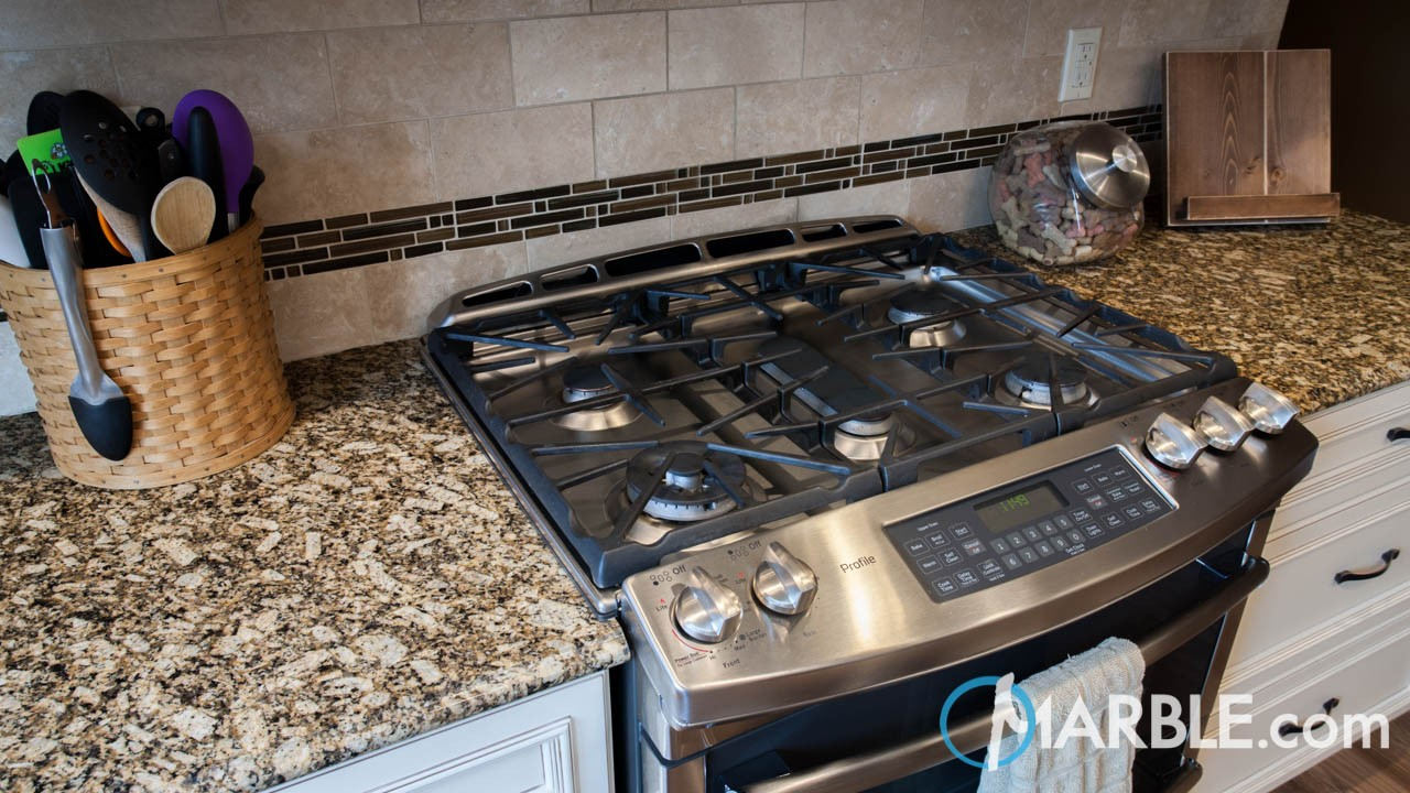 Florence Gold Granite Kitchen | Marble.com