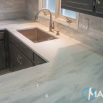 Cirrus White Quartzite Kitchen | Marble.com