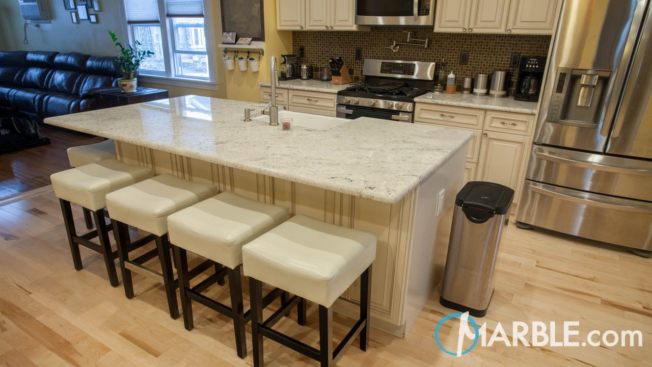 Bianco Romano Granite Kitchen | Marble.com