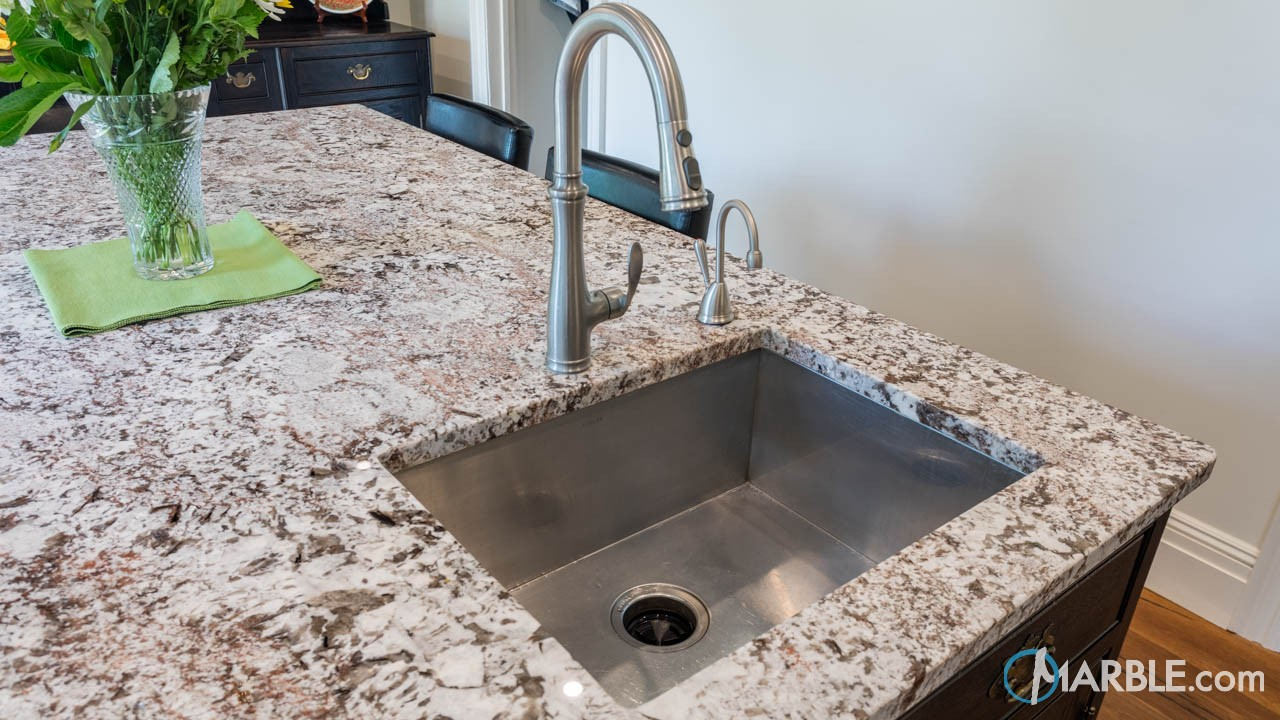 Bianco Antico Large Granite Kitchen Top | Marble.com
