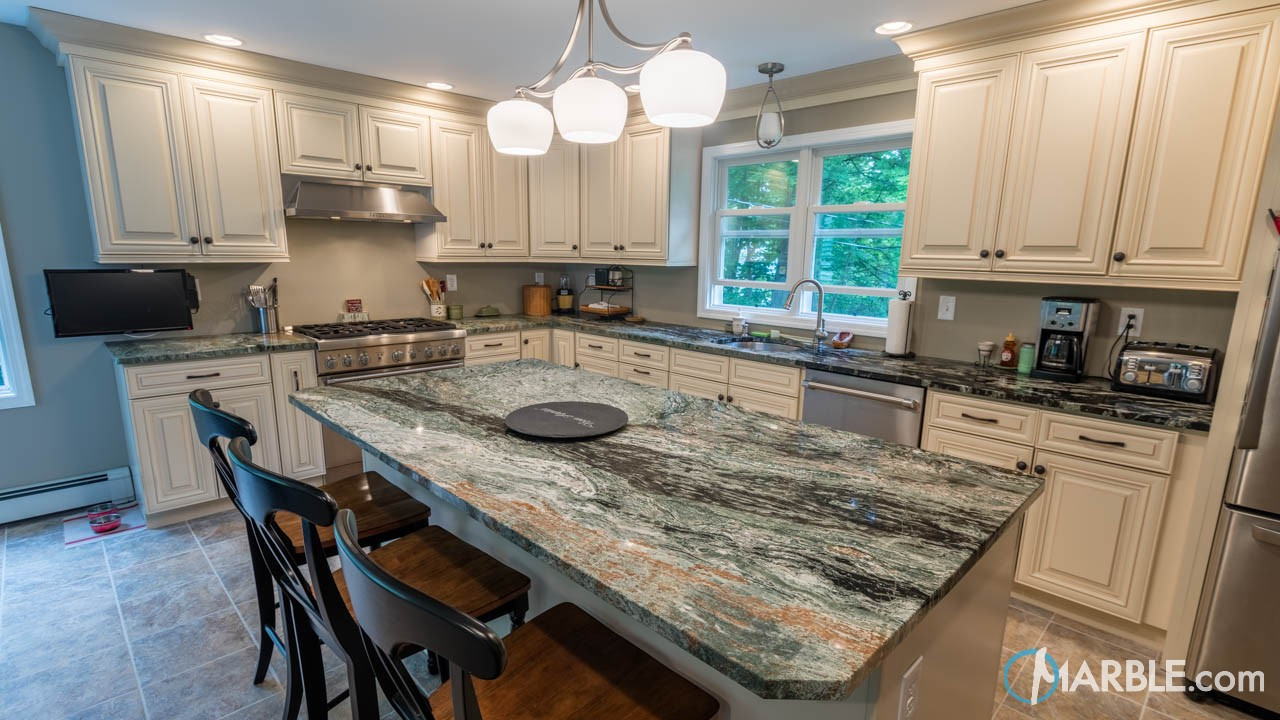 green jadeite granite kitchen countertops - Granite Kitchen Countertops