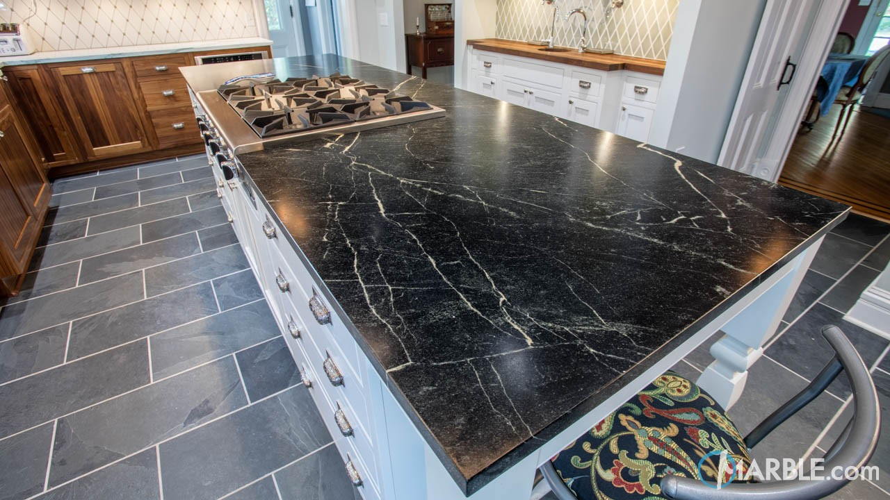 White Soapstone Countertops : Mountain white danby and barroca soapstone countertops