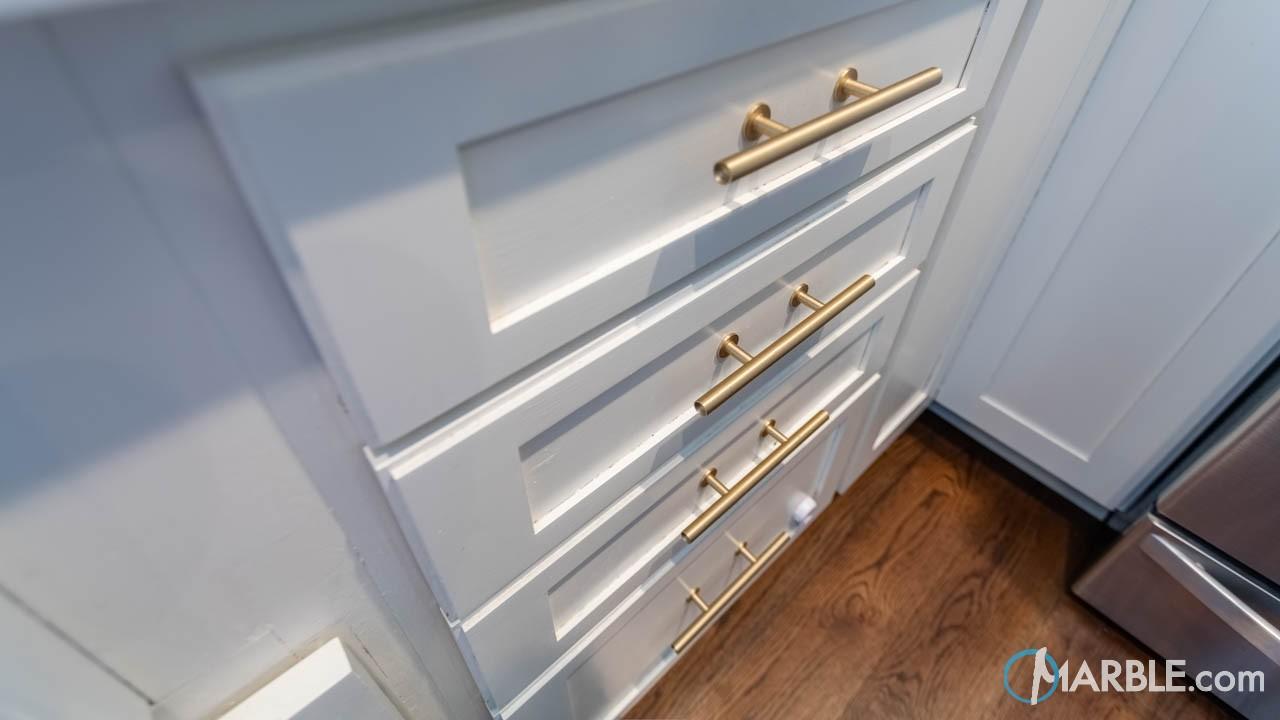Classic White Quartzite Kitchen Countertops   Marble.com