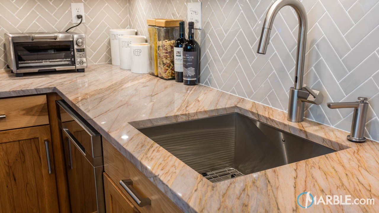 Aurora Blue Quartzite Kitchen Countertops