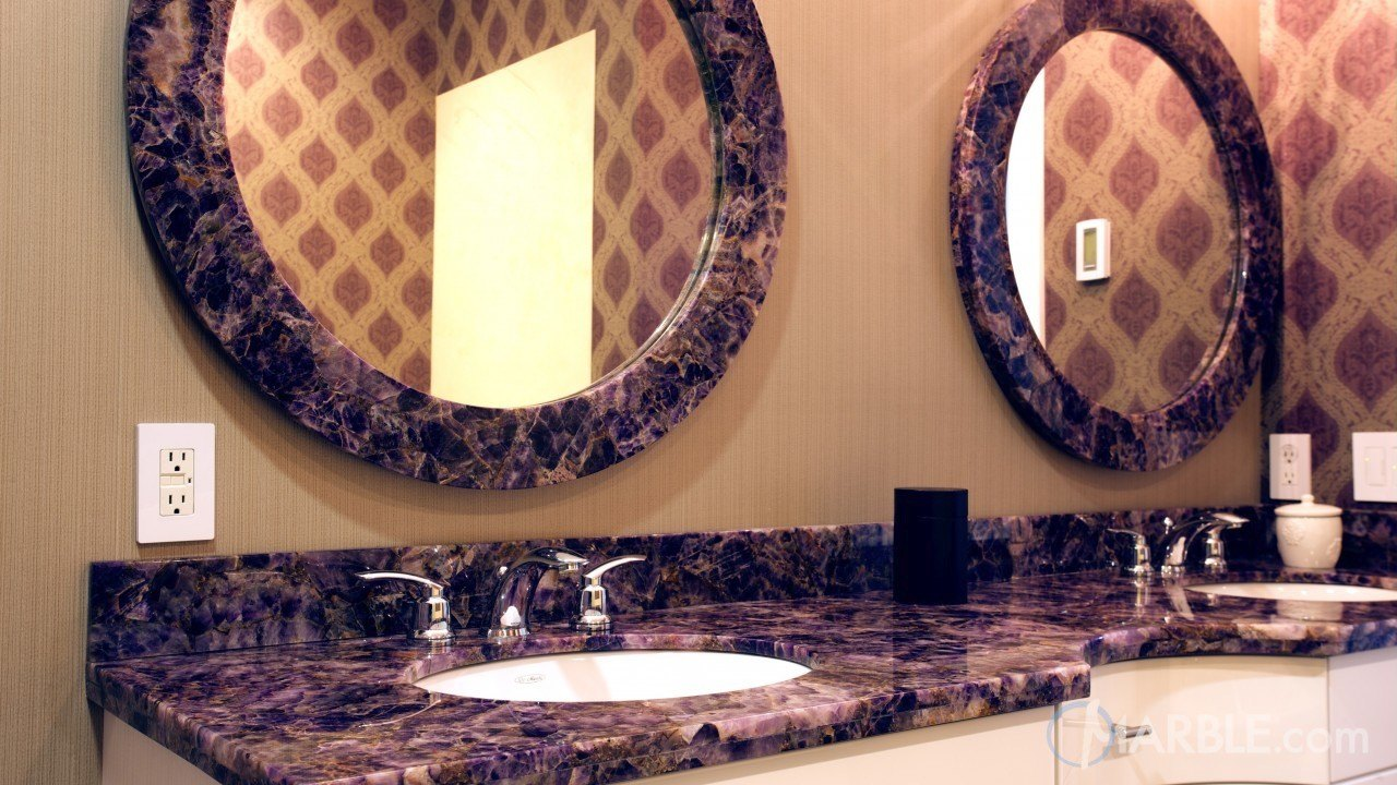 Gemstone Bathroom Countertops and Trims | Marble.com